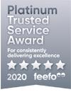 Feefo Platinum Trusted Award